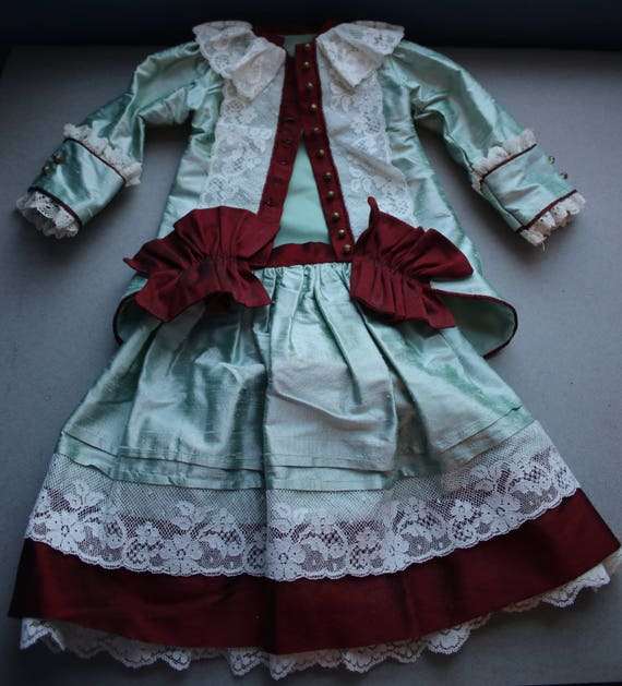 Dupioni Silk Jacket and Skirt for Doll