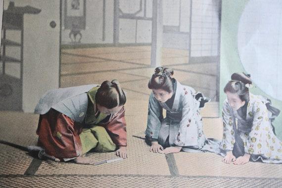 """Antique, French, Photochrom Print- """"Visite de Cérémonie au Japon"""""""