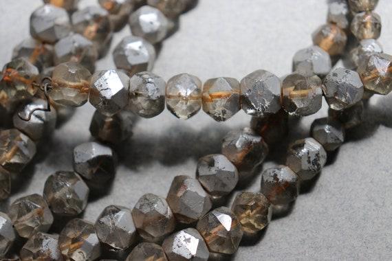 Six Strands of Distressed, Gradated, Mercury Glass Beads, Circa 1930s