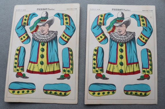 Pierrot Postcard by Pellerin of Épinal, France, Two Available