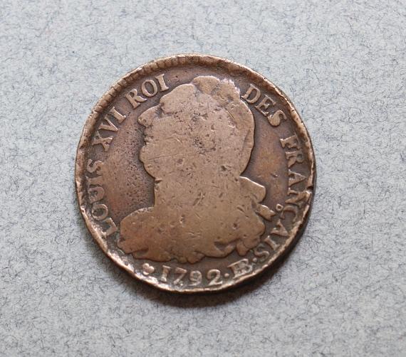 French, Bronze, 2 Sols, Louis XVI