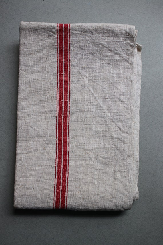 Vintage French Linen Tea Towel