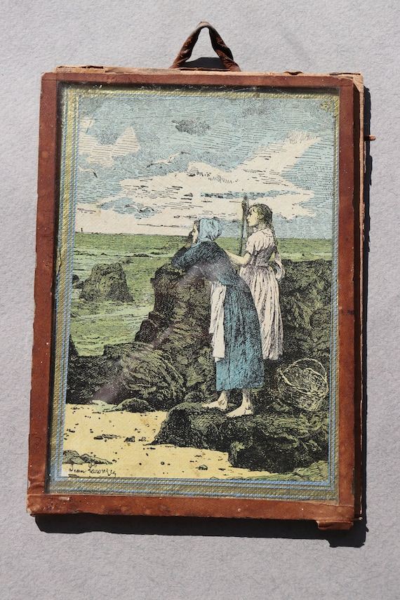 Antique French Engraving under Glass, to Restore