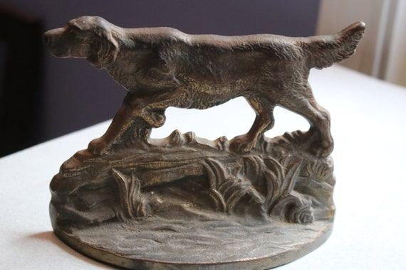 Connecticut Foundry English Setter Book End or Door Stop, 1930