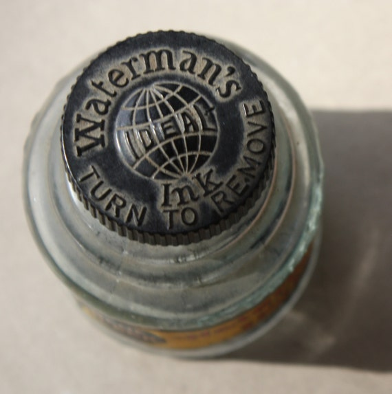 Waterman's Ink Bottle with Bakelite Cap, Circa 1920s