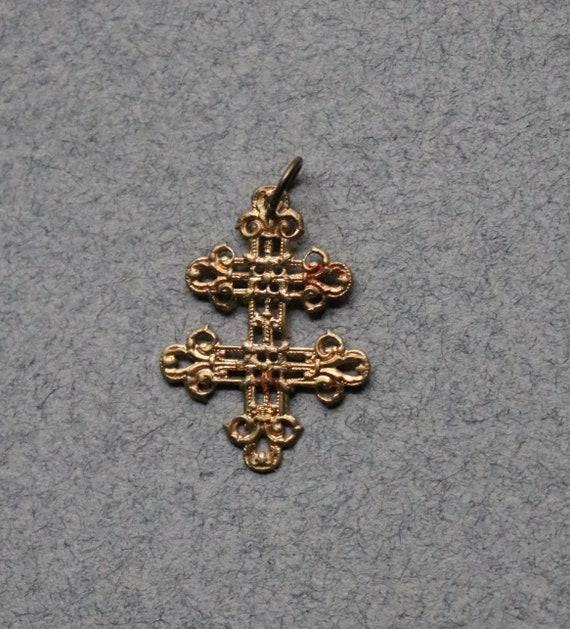 Antique, Cross of Lorraine, French Pendant
