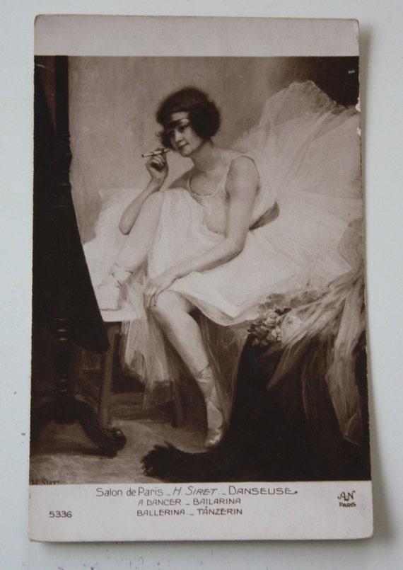 Alfred Noyer, Salon de Paris, AN Paris Postcard of H. Siret's Photograph of Ballerina