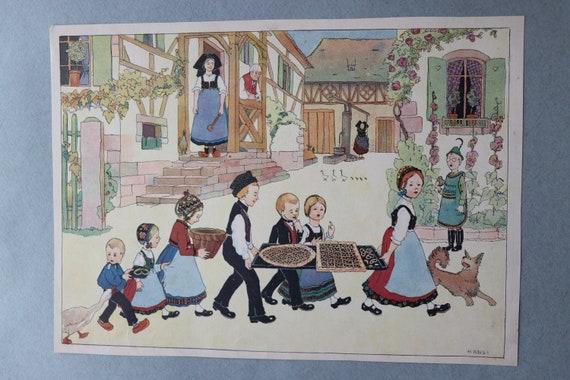 Jean-Jacques Waltz (Hansi), French, Antique Print
