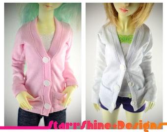 BJD MSD 1/4 Doll clothing - Cardigan - 20 Colors