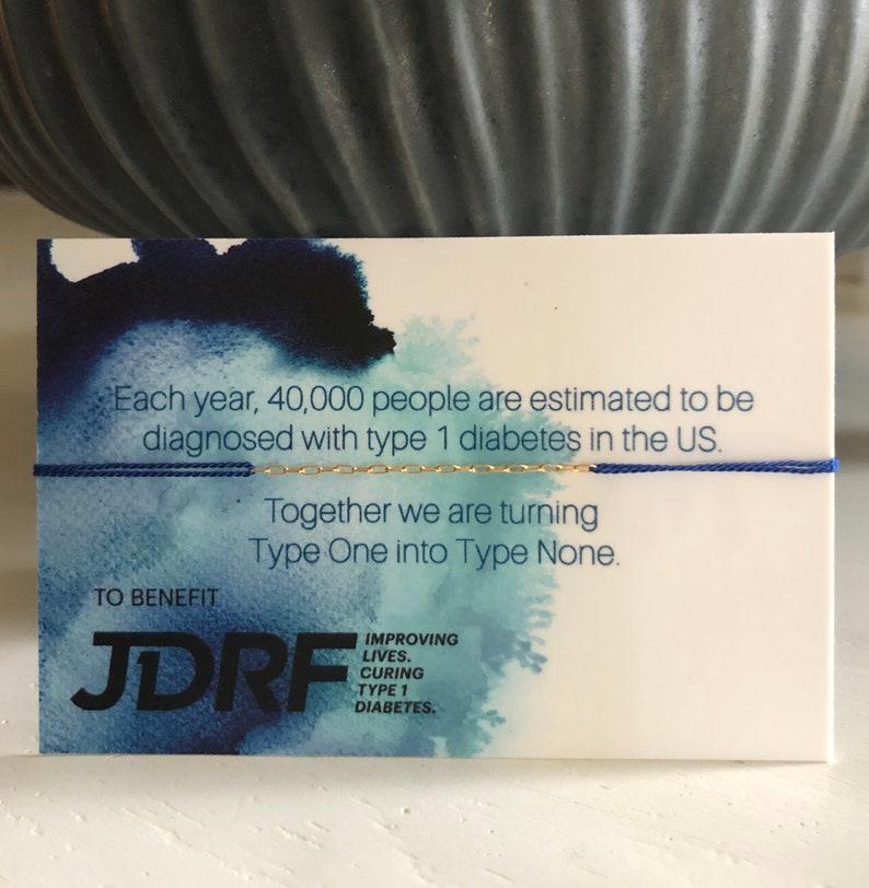 JDRF Juvenile Diabetes Research Foundation Blue Silk image 0