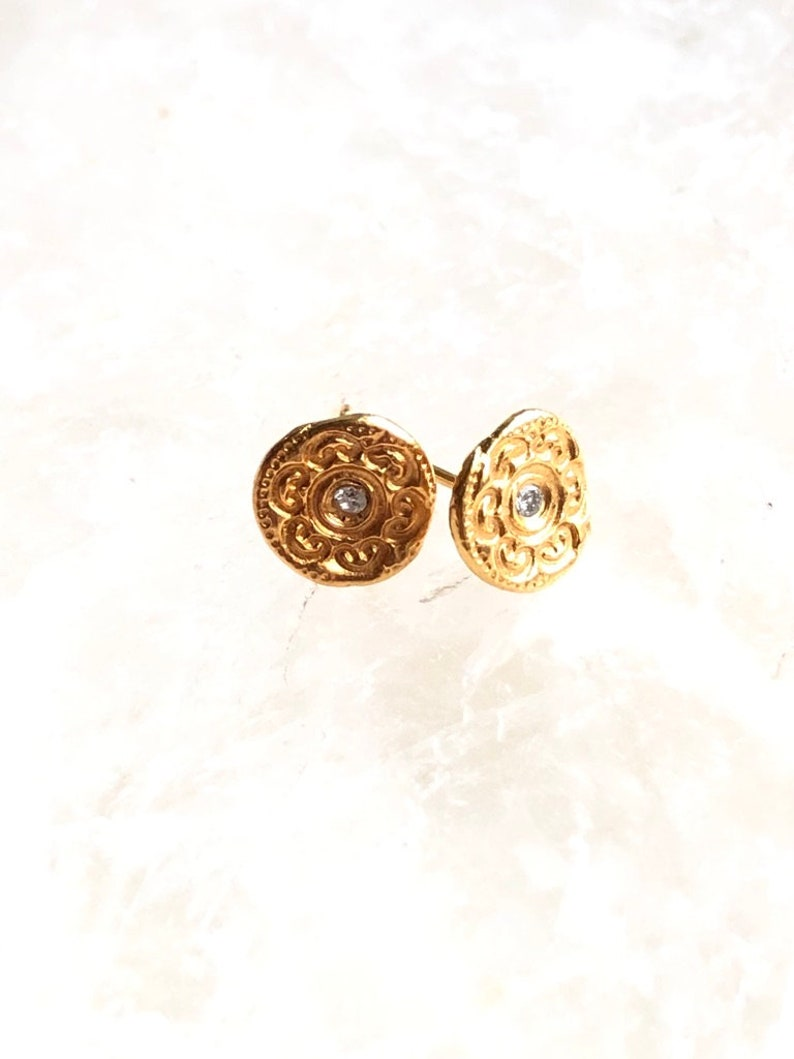Diamond Stud Earrings in Gold Ear Party Small Earrings image 0