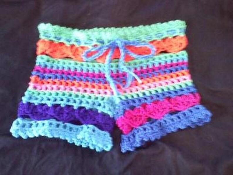 ed3edefd6b PDF Crochet Pattern l Love the Beach Shorts Bathing Suit | Etsy