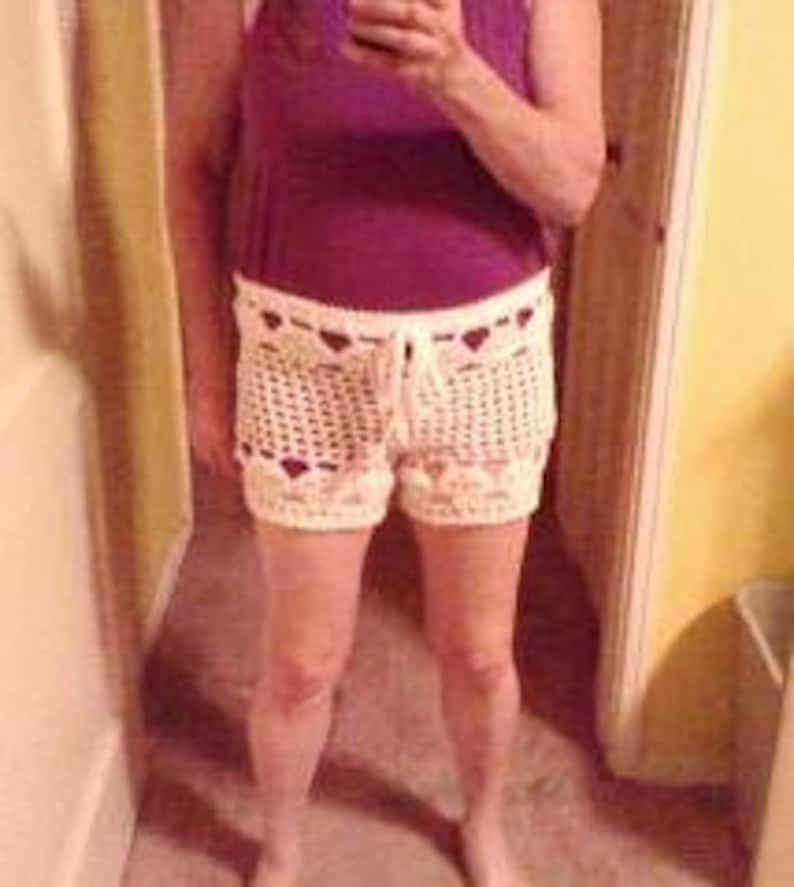 1af4969ba7 PDF Crochet Pattern Creepy Skull Beach Shorts Bathing Suit | Etsy