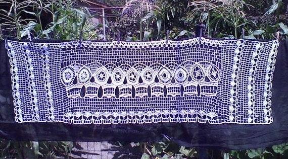 Crochet Skull Shawl Picassos Fantasma
