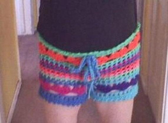 0a16aef2d5 PDF Crochet Pattern Plus size l Love the Beach Shorts Bathing | Etsy