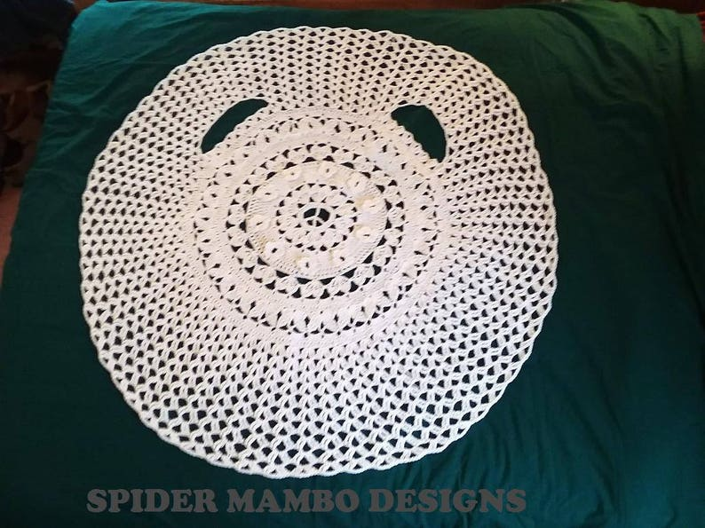 d60b56af9 PDF Crochet Pattern Only Hippie Wedding Circle Vest or Coat
