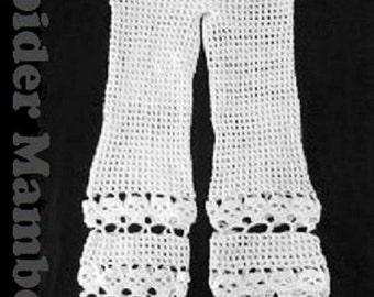 PDF   Crochet Pattern  Creepy Skull Beach Pants Bathing Suit Cover up