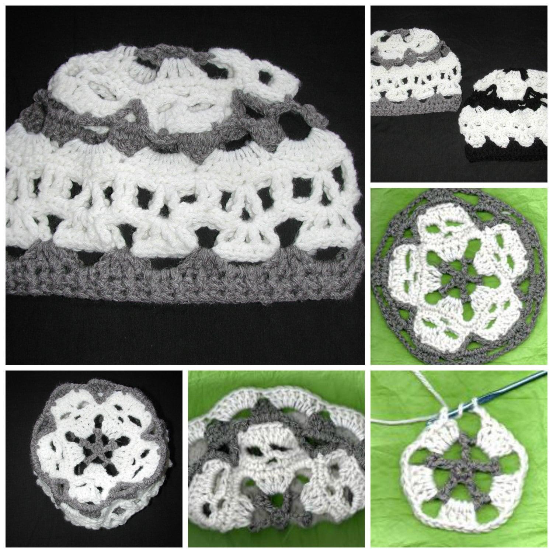 Pdf Creepy Skulls Mandala Skull Hat Pattern With Option To Etsy