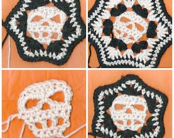 PDF Skull Hexagon Afghan Square