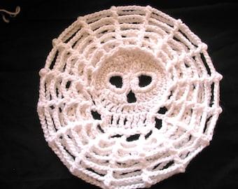 PDF  Crochet  PATTERN Web Skull Slouch Hat
