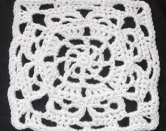 PDF Square Wheel Creepy Granny  Skull Afghan  Square Crochet  Pattern