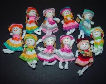 FREE SHIPPING 20 Handmade  doll scrapbook craft embellishments multi color