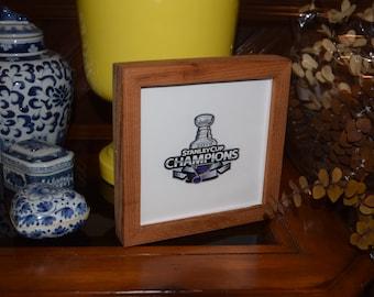 FREE SHIPPING St Louis Blues 2019 Stanley Cup Champions Logo custom cedar framed display decal deep profile desk buddy