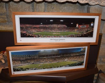 FREE SHIPPING 2 University of Tennessee classic custom framed cedar panoramic stadium prints