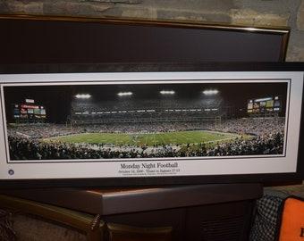 FREE SHIPPING Tennessee Titans panoramic framed print solid cedar wood dark finish rustic display  Monday Night Football