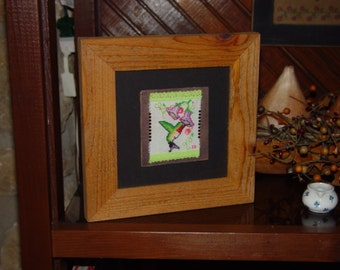 FREE SHIPPING 6x6 Solid cedar wood picture photo craft frame oak finish country rustic display