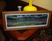 FREE SHIPPING Super Bowl XL Pittsburgh Steelers custom framed solid cedar panoramic frame oak finish rustic display