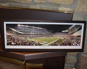FREE SHIPPING Rare Chicago Bears custom framed Stadium Panoramic Print Inaugural Game Soldier Field