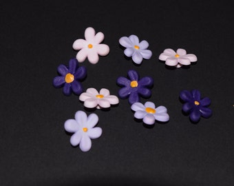 FREE SHIPPING Scrapbook craft embellishment buttons spring flowers daisies 9 count