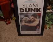 FREE SHIPPING University of North Carolina rare custom framed cedar original newspaper 2009 NCAA champions dark finish