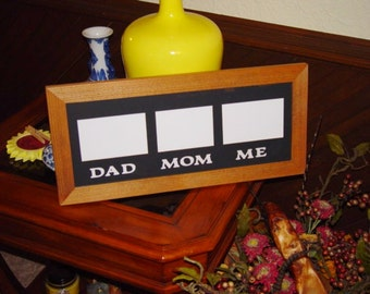 FREE SHIPPING Solid rustic cedar 10x22 picture photo craft family custom lettered display frame oak finish