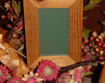 FREE SHIPPING 3.5X6 size solid rustic cedar wood frame picture photo craft oak finish country display