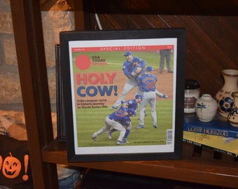 FREE SHIPPING Rare USA Today Sports Complete Newspaper Chicago Cubs 2016 World Series Champions Custom framed Special Edition