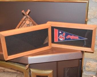 FREE SHIPPING 4x9 mini pennant frame custom solid rustic cedar oak finish country display black matted deep profile