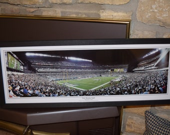 FREE SHIPPING Vintage Philadelphia Eagles panoramic framed print solid wood dark finish rustic display First Monday Night