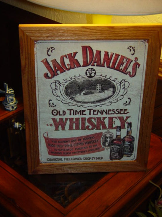 "Jack Daniels Old No 7 Tennessee Whiskey Barrel Sign 10/"" x 10/""Bar Decor MAN CAVE"