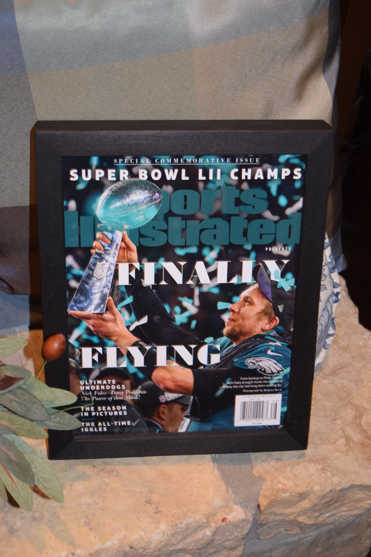 Philadelphia Eagles Super Bowl LII Sports Illustrated Commemorative Poster Foles