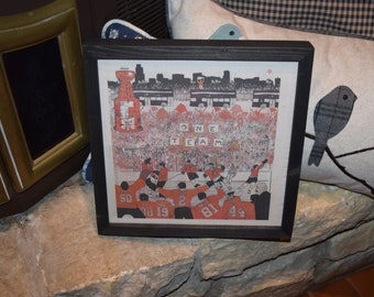 FREE SHIPPING Chicago Blackhawks Rare framed complete original newspaper 2015 Stanley Cup  NHL Champions One Team
