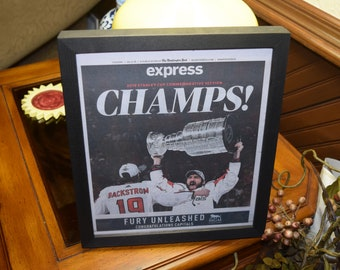 FREE SHIPPING Washington Capitals 2018 Stanley Cup Champions Custom framed original complete Post Commemorative Section newspaper