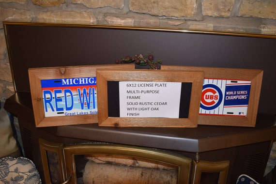 FREE SHIPPING 6x12 Wood license plate multi purpose frame solid ...