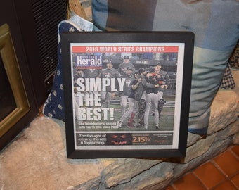 FREE SHIPPING 2018 Boston Red Sox original framed complete newspaper World Series Champions Simply the Best