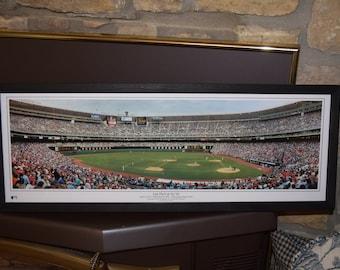 FREE SHIPPING Philadelphia Phillies custom framed Stadium Panoramic Print Last Pitch at the Vet