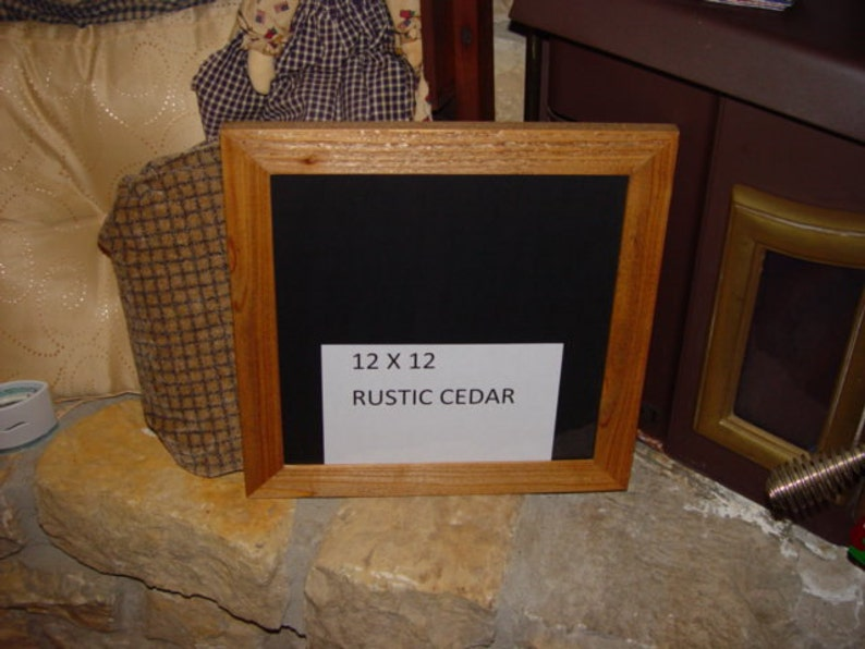 FREE SHIPPING 12x12 size frame solid cedar wood picture photo craft scrapbooking oak finish country rustic display