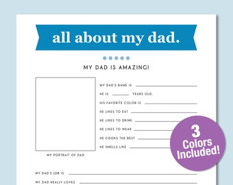 All About Me Kid S Yearly Worksheet Kids Birthday Etsy