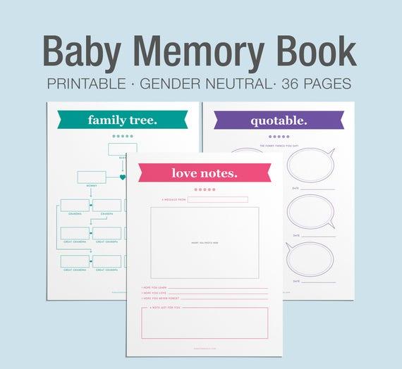 Digital Baby Book Printable Keepsake Journal