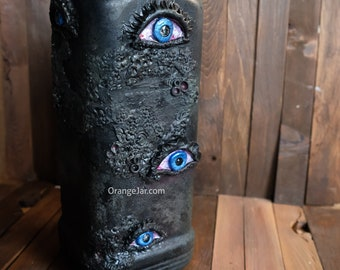 LARGE Creepylicious Bottle with Multiple Eyes - Ready to ship
